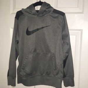 Boys gray Nike therms-fit hoodie sweatshirt size